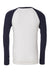 USO SAN ANTONIO MEN'S JERSEY LONG SLEEVE BASEBALL TEE WHITE/NAVY