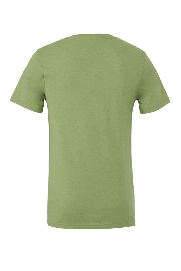 UNISEX JERSEY SHORT SLEEVE V-NECK TEE - Heather Green