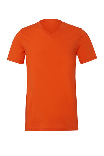 UNISEX JERSEY SHORT SLEEVE V-NECK TEE - Orange