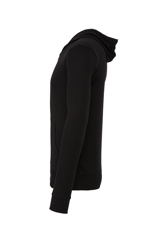 USO SAN ANTONIO UNISEX TRIBLEND FULL-ZIP LIGHTWEIGHT HOODIE-BLACK