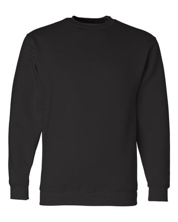 Crewneck Shirt Fleece | Black | Made In USA
