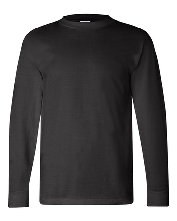Crew Shirt Heavyweight Long Sleeve | Black | Made In USA