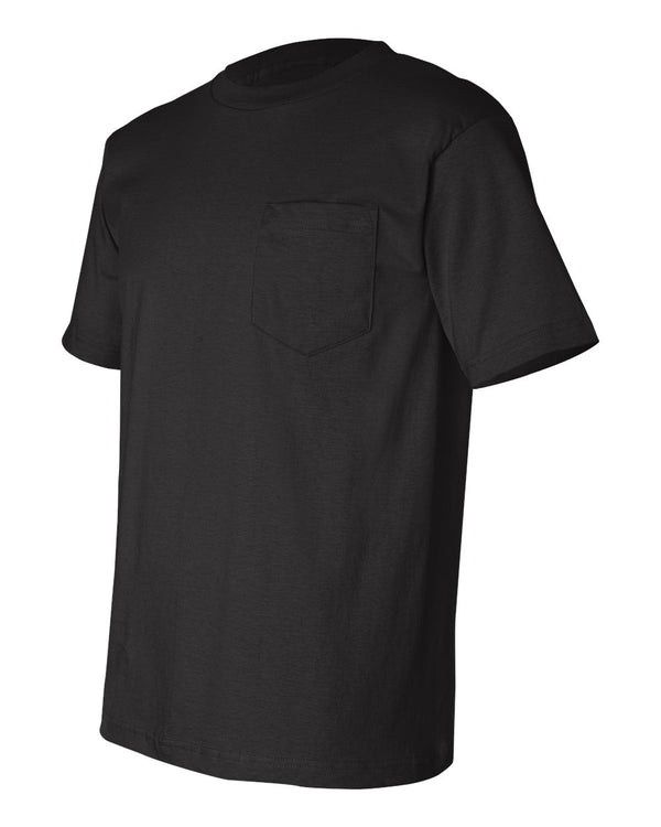Crew Shirt Pocket Heavyweight | Black | Made In USA