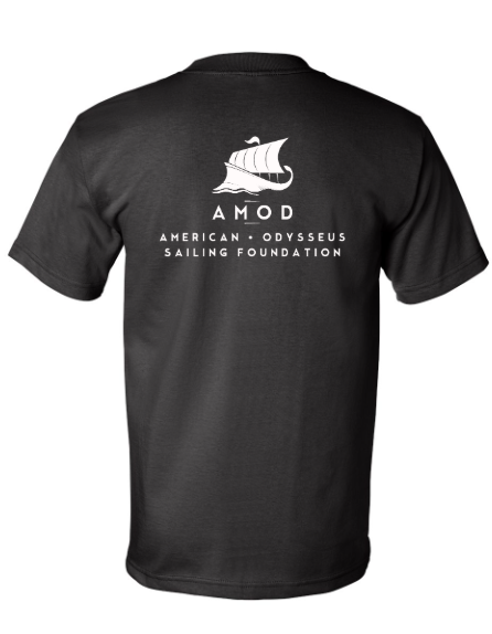 AMOD Foundation Black Shirt Front & Back