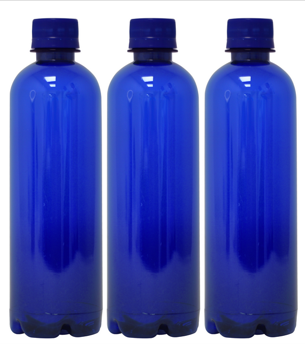 Custom Premium Purified Water 16.9oz (500ml) | 24 Pack Case | Blue Boston Blue Cap