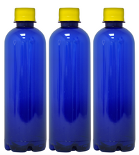 Custom Premium Purified Water 16.9oz (500ml) | 24 Pack Case | Blue Boston Yellow Cap