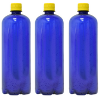 Custom Premium Purified Water 33.3oz (1L) | 12 Pack Case | Blue Boston Yellow Cap