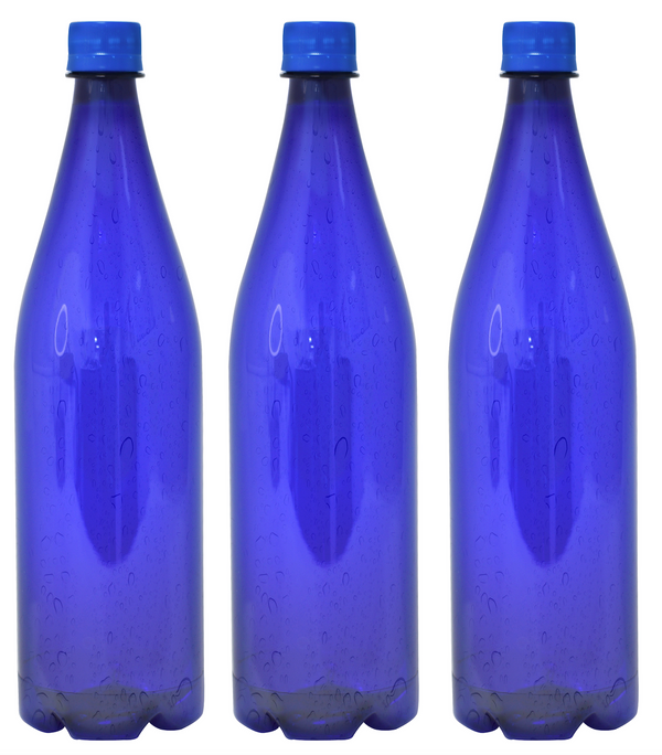 Custom Premium Purified Water 33.3oz (1L) | 12 Pack Case | Blue Drop Blue Cap