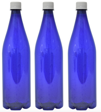 Custom Premium Purified Water 33.3oz (1L) | 12 Pack Case | Blue Drop White Cap