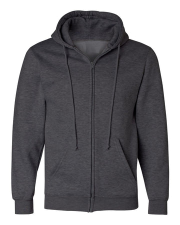 Full Zip Hoodie | Heather Charcoal | Made In USA
