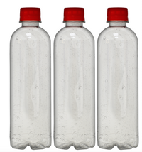 Custom Premium Purified Water 16.9oz (500ml) | 24 Pack Case | Clear Boston Red Cap