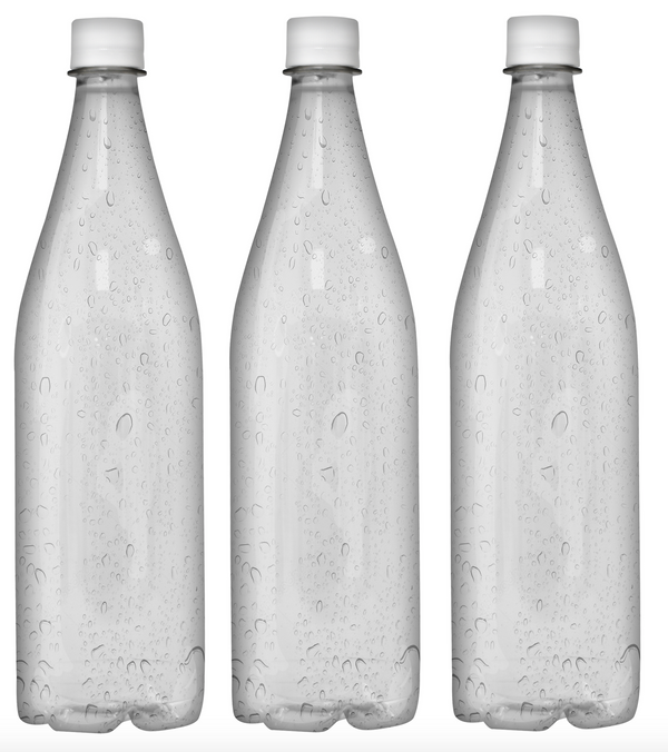 Custom Premium Purified Water 33.3oz (1L) | 12 Pack Case | Clear Drop White Cap