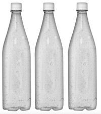 Custom Premium Sparkling Water 33.3oz (1L) | 12 Pack Case | Clear Drop White Cap