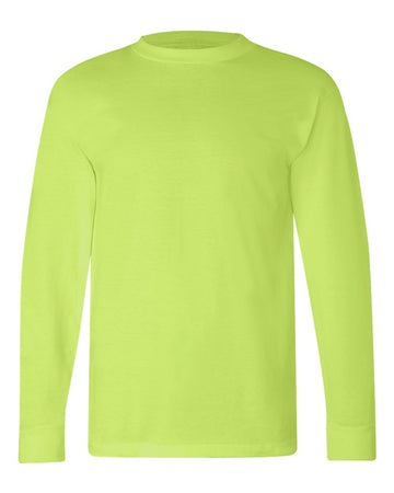 Crew Shirt Heavyweight Long Sleeve | Lime Green | Made In USA