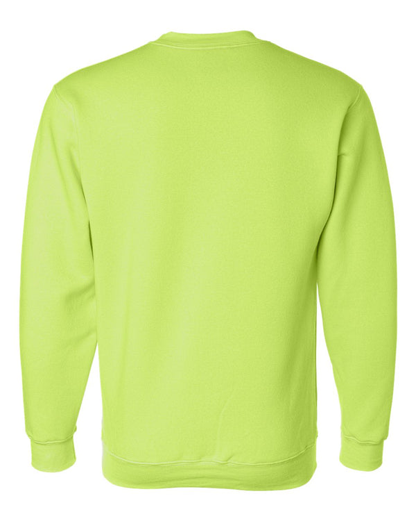 Crewneck Shirt Fleece | Lime Green | Made In USA