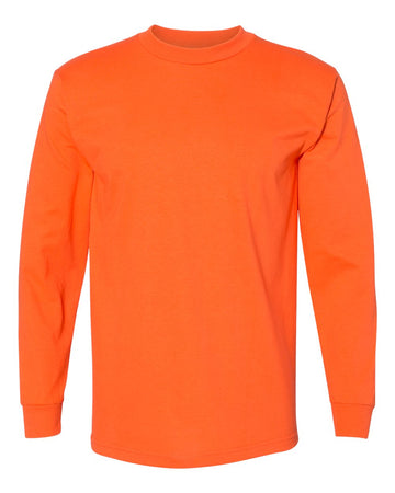 Crew Shirt Heavyweight Long Sleeve | Orange | Made In USA