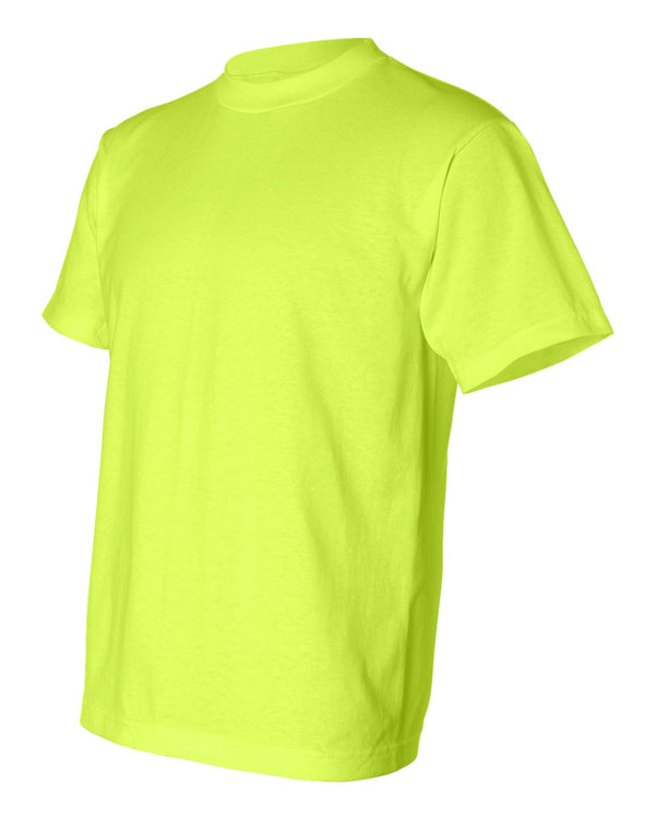 Crew Shirt 50/50 | Lime Green | Made In USA