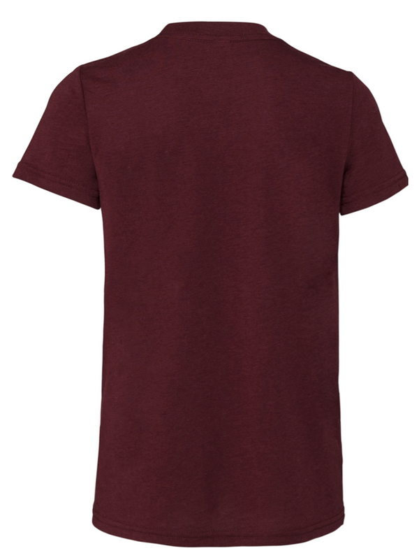 MILITARY MOM UNISEX TRIBLEND S/S TEE-MAROON V2