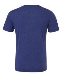 USO HOUSTON MEN'S TRIBLEND SHORT SLEEVE HENLEY-NAVY