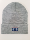 "USO SAN ANTONIO MADE IN USA 12"" BEANIE-DARK ASH"