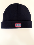 "USO SAN ANTONIO MADE IN USA 8"" BEANIE-NAVY"
