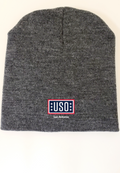 "USO SAN ANTONIO MADE IN USA 8"" BEANIE-CHARCOAL"