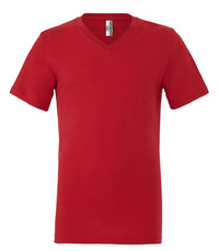 UNISEX JERSEY SHORT SLEEVE V-NECK TEE - Canvas Red