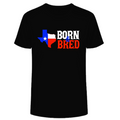 Texas Born & Bred - Black Premium Super Soft Ring Spun  Cotton