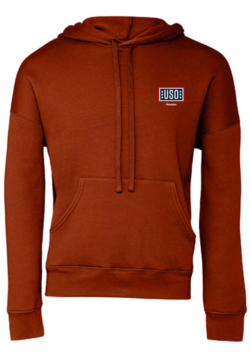 USO HOUSTON UNISEX SPONGE FLEECE PULLOVER DTM HOODIE-BRICK