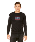 USO HOUSTON | UNISEX LIGHTWEIGHT SWEATER-BLACK