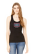 USO HOUSTON WOMEN'S 2X1 RIB RACERBACK LONGER LENGTH TANK-BLACK