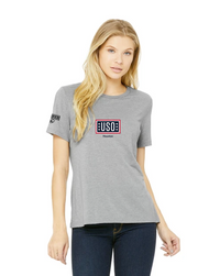 USO HOUSTON Relaxed Jersey Short Sleeve Tee - Athletic Grey Triblend