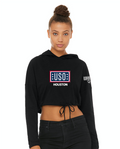 USO Houston Women's Cinched Cropped Hoodie