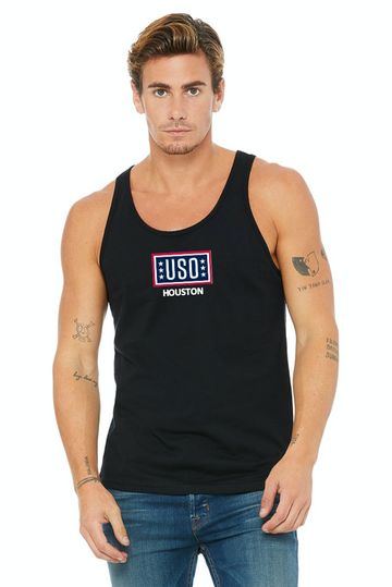USO Houston Unisex Jersey Tank Top - Black