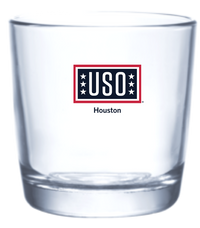 USO Houston Mission Collection Bar Beverage Glass 365ml / 12 oz (pallet of 1440 pieces)