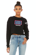 USO Houston Women's Cropped Crew Fleece