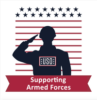 USO Supporting Armed Forces Bumper Sticker