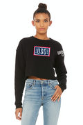 USO Women's Cropped Crew Fleece