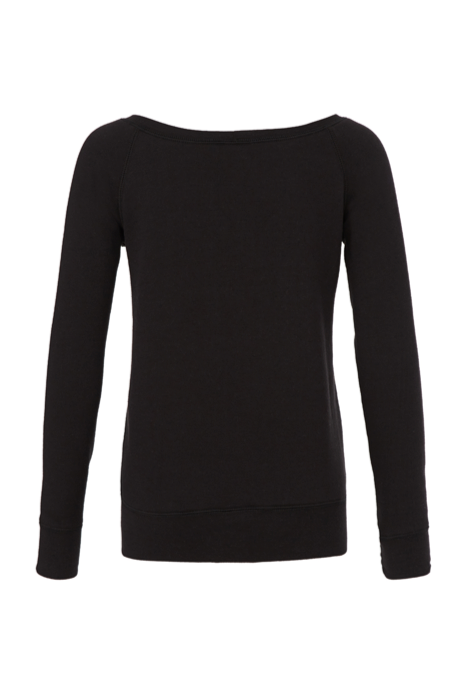 USO HOUSTON WOMEN'S SPONGE FLEECE WIDE NECK SWEATSHIRT BLACK
