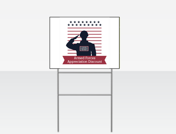 USO Appreciation Yard Sign