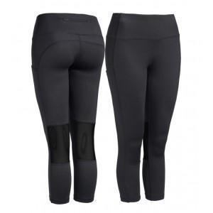 WOMEN'S PERFORMANCE POCKET CAPRI LEGGINGS - BLACK
