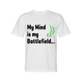 Circle of Arms - My Mind Is My Battlefield | Crew Shirt Midweight | White | Made In USA| White