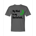 Circle of Arms - My Mind Is My Battlefield | Crew Shirt Midweight | Charcoal | Made In USA