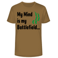 Circle of Arms - My Mind Is My Battlefield | Fine Jersey Crew Shirt | Coyote Brown