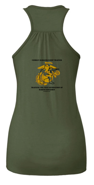 0931 Combat Marksmanship Trainer Course 2021 - FLOWY RACERBACK TANK- Military Green