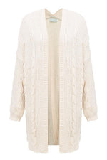 Loose Beige Long Cardigan