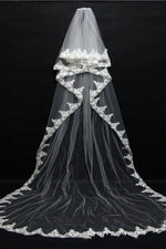 3 Meter Lace Embroidered Romantic Bridal Veil