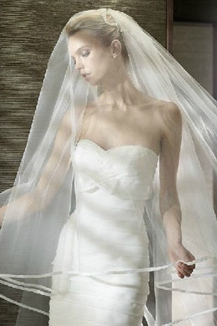 Long White Bridal Veil