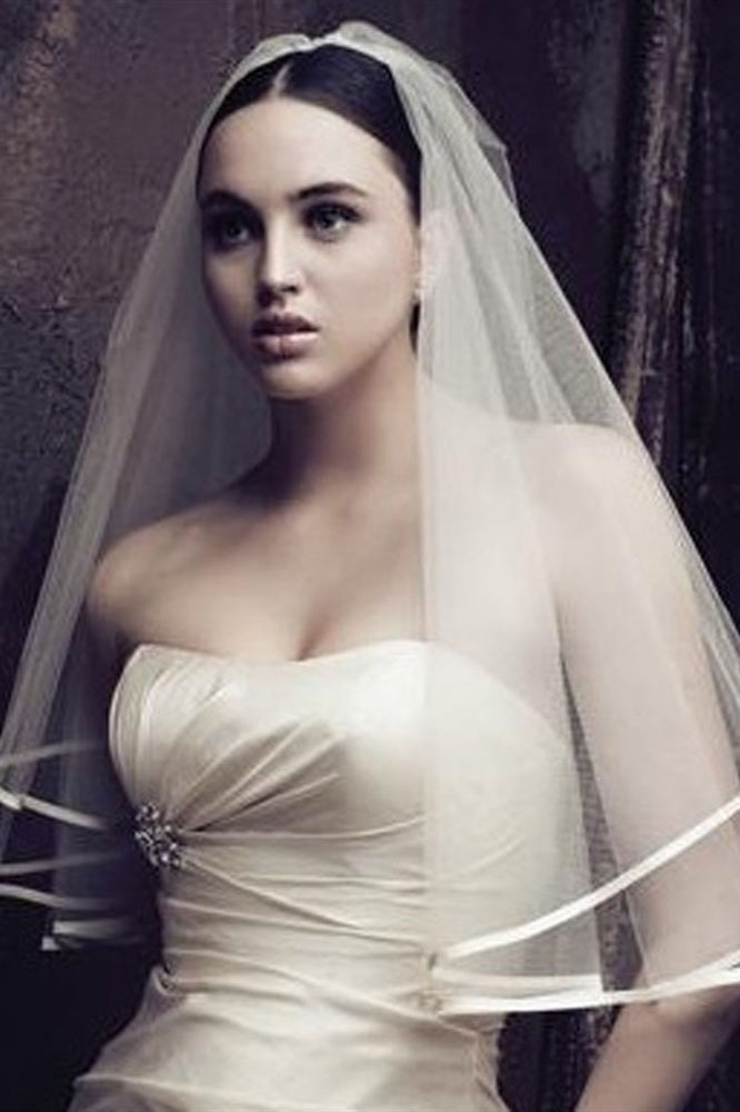 Simple White Bridal Veil