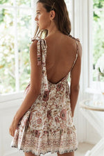 Bohemian Sexy V-Neck Short Summer Dress Beach Dress